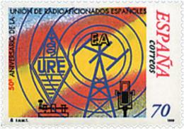 Ref. 85665 * NEW *  - SPAIN . 1999. 50th ANNIVERSARY OF SPANISH RADIO AMATEURS UNION. 50 ANIVERSARIO DE LA UNION DE RADI - 1991-00 Nuevos & Fijasellos