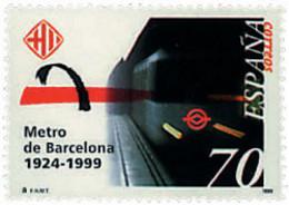 Ref. 83150 * NEW *  - SPAIN . 1999. 75th ANNIVERSARY OF THE BARCELONA SUBWAY SERVICE. 75 ANIVERSARIO DEL METRO DE BARCEL - 1991-00 Nuevos & Fijasellos
