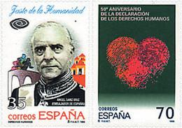 Ref. 83211 * NEW *  - SPAIN . 1998. HUMAN RIGHTS. DERECHOS DEL HOMBRE - 1991-00 Nuevos & Fijasellos
