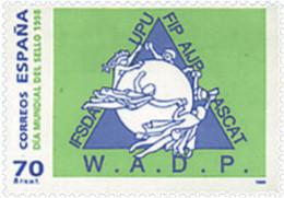 Ref. 83202 * NEW *  - SPAIN . 1998. WORLD DAY OF THE STAMP. DIA MUNDIAL DEL SELLO - 1991-00 Nuevos & Fijasellos