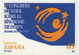 Ref. 83264 * NEW *  - SPAIN . 1997. 6th WORLD CONGRESS ON DOWN SYNDROME. 6 CONGRESO MUNDIAL SOBRE EN SINDROME DE DOWN - 1991-00 Nuevos & Fijasellos