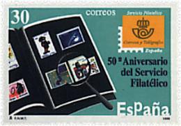 Ref. 85991 * NEW *  - SPAIN . 1996. 50th ANNIVERSARY OF POST OFFICE PHILATELIC SERVICE. 50 ANIVERSARIO DEL SERVICIO FILA - 1991-00 Nuevos & Fijasellos