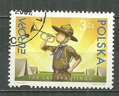 POLAND Oblitéré 4051 Europa Centenaire Du Scoutisme Scout Clairon - Used Stamps