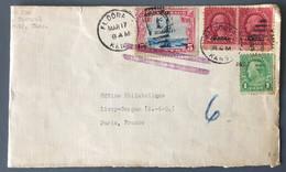 """USA - Cover With """"Kans."""" Ovpt Stamps - From El Dorado, Kans. To Paris - (C1738) - Briefe U. Dokumente"""