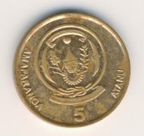 RWANDA 2009: 5 Francs, KM 33 - Rwanda