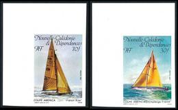 NOUV.-CALEDONIE 1987 - Yv. 531 Et 532 ND ** SUP Cdf - Voiliers (2 Val) Imperf NON DENTELE  ..Réf.NCE25794 - Geschnitten, Drukprobe Und Abarten