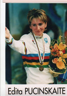 CYCLISME  TOUR DE FRANCE   CP DE JONCKHEERE  EDITA PUCINSKAITE - Radsport