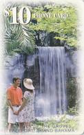 Bahamas, BS-BAT-0017C, Garden Of The Groves, Waterfall, 2 Scans.    Chip : GEM1B (Not Symmetric White/Gold) - Bahama's