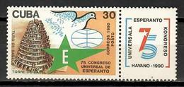 Cuba 1990 / Esperanto Language Congress MNH Congreso De Esperanto / Cu11721  C2-11 - Nuevos