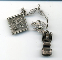 Médaille St Christophe Sur Chaîne Avec Tacot - Otros