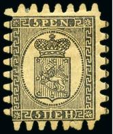 1866-1870 5p Error Of Colour Black On Buff Paper Instead - Nuovi
