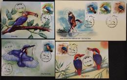Full Set Of 3 Vietnam Viet Nam Maxi Maxicards 2020 : Kingfisher Bird / Birds - Sent By FDC As Shown (Ms1135) - Vietnam