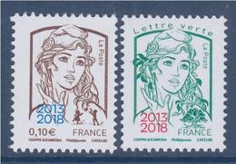 Marianne Et La Jeunesse Surchargés TVP LV Et 0.10€ Neufs 5234 5235 Salon Paris Philex 2018 Ciappa Kawena De Feuille - 2013-... Marianne Di Ciappa-Kawena