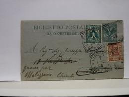 REGNO  -1940-1944 -  BIGLIETTO POSTALE  CON FRANCOBOLLI AGGIUNTI --TIPI E VALORI DIVERSI - Postwaardestukken