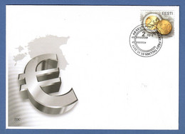 Estland / Eesti 2011 , EUROPA CEPT Einführung Der EURO-Währung - FDC - EESTI Tallinn 01.11.2011 - 2011
