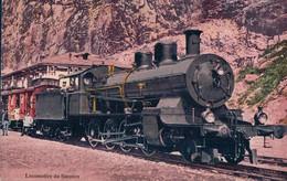 Chemin De Fer Suisse, Locomotive à Vapeur Et Train Du Simplon (425) - Trains