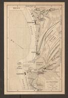 CARTE PLAN 1920 - MERS LE TRÉPORT - 2 CASINO - TRIANON HOTEL JETÉE CHENAL AVANT PORT BASSIN à FLOT GARE - Topographical Maps
