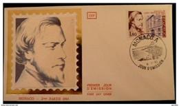 MONACO PREMIER JOUR FDC YVERT 1402 ST VINCENT DE PAUL 1,80F 1983 - FDC