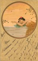 191120B - ILLUSTRATEUR RAPHAEL KIRCHNER - Femme Tête Posée Sur Un Coussin Main Tendue Vers Un Escargot - Kirchner, Raphael