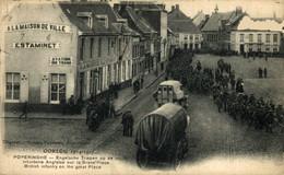POPERINGHE - TROUPES ANGLAISES SUR LA GRAND'PLACE - ENGELSCHE TROEPEN PR DE MARKT - BRITISH TR 1914-15 WWI WWICOLLECTION - Guerra 1914-18