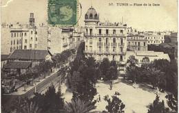 Carte POSTALE Ancienne De TUNIS - Place De La Gare - Tunesië