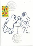 Cachet Illustré - 50 Ans Des Expéditions Polaires Françaises - YT 3046 Joyeux Anniversaire - Cachets Commémoratifs