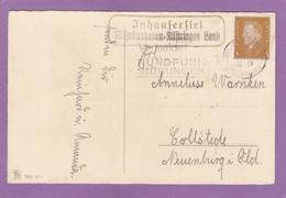 """LANDPOSTSTEMPEL """"INHAUSERSIEL"""" UND POSTSTEMPEL """"WILHELMSHAFEN"""". - Lettres & Documents"""