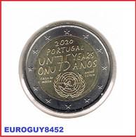 PORTUGAL - 2 € COM. 2020 UNC - 75e VERJAARDAG BESTAAN VAN DE UNO - Portugal