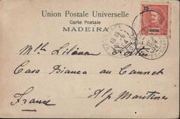 CPA UPU Madeira YT  N°20 Funchal Portugal CAD Faible Arrivée Le Cannet Maritime 2 JUIN 1904 CPA Madeira - Funchal