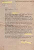 """Demande D'autorisation De Séjour En France Pour 8 Jours Auprès Du Gauleiter Bürckel, Metz En 1943 Par Une """"Malgré-nous"""""""" - Documenti Storici"""