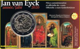 BELGIE - COINCARD 2 € COM. 2020 BU - JAN VAN EYCK - FR - Belgium