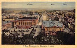 Liege Luik Spa Panorama Vu D'Annette Et Lubin  Casino Bains Et Poste      Barry 6512 - Spa