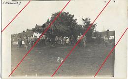 Wancourt Près De Croisilles Photo Carte Allemande Fête, Manège Enfants Et Soldats - Otros Municipios