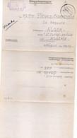 FRANCE : LETTRE DE PG . POUR ALGER . 1941 . - Guerra Del 1939-45