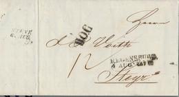 1847 REGENSBURG Bf M. Inhalt Und BOC Sowie Ank.Stpl. Steyr Nach Steyr - [1] Precursores