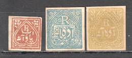 UU466 1876,1882-1885 INDIA JIND JHIND GIBBONS #J8,16,17 3ST LH - Jhind