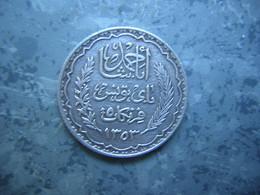 TUNISIE - 5 FRS - ARGENT - Tunesië