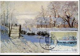 60458 Monaco, Maximum 1990, Painting Of  Claude Monet , The Magpie - Impressionisme