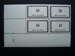 FICTIFS NEUF ** N°F 90 SANS CHARNIERE (FICTIF F90) COIN DATE DU 18.1.50 INDICE 2 - Phantomausgaben