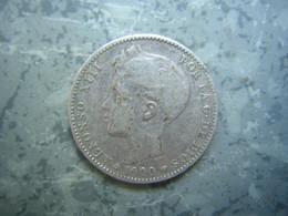 ESPAGNE - 1 PESETA 1900 - ARGENT - Other