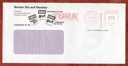 Infopost, Absenderfreistempel, Tura Filme + Papiere, 35 Pfg, Dueren 1988 (99643) - Machine Stamps (ATM)