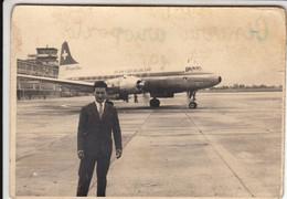 AEREO PLANE AIRCRAFT SWISS AIR - FOTO ORIGINALE GINEVRA 1958 - Aviación