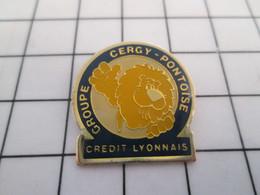 411h Pin's Pins / Beau Et Rare / THEME : BANQUES / CREDIT LYONNAIS GROUPE CERGY-PONTOISE - Banks