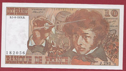 "10 Francs ""Berlioz"" Du 05/08/1976.B---ALPH.J.293---N °182056 ---UNC/NEUF---BILLET MAGNIFIQUE - 10 F 1972-1978 ''Berlioz''"
