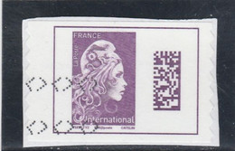 FRANCE 2019 MARIANNE L ENGAGEE DATAMATRIX INTERNATIONAL ADHESIF OBLITERE SUR FRAGMENTYT 1656 - 2010-.. Matasellados