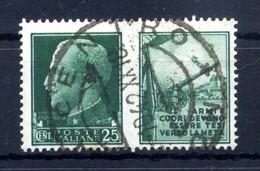 1942 REGNO Propaganda Di Guerra N.2 USATO 25 Centesimi Verde ESERCITO - Propaganda Di Guerra