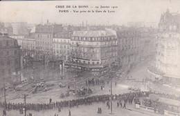 CRUE DE LA SEINE 29 JANVIER 1910 PARIS VUE PRISE DE LA GARE DE LYON,JOLI PLAN ANIME REF 68598 - Arrondissement: 12