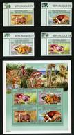 SALE  Ivory Coast 2005 Mi. 1381-1384 Bl. 83  Mushrooms  MNH - Mushrooms