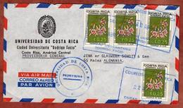 Luftpost, Orchidee, Ciudad Universitaria Rodrigo Facio San Jose Nach Mainz 1971 (99655) - Costa Rica