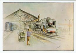 """Le """" Mistral """" à La Gare De Marseille Saint-Charles / Ill. Philippe Perreard - Sonstige"""